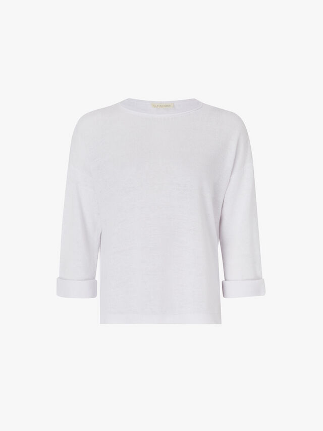 3/4 Sleeve Linen Top