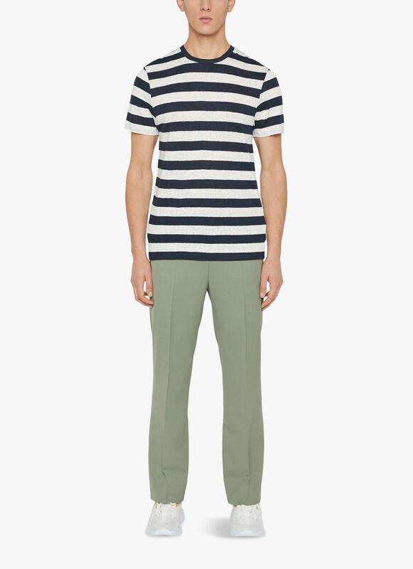 Coma Linen Stripe T-Shirt