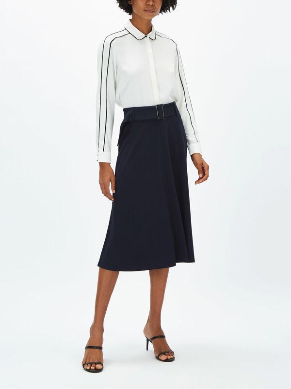 A-Line Jersey Skirt