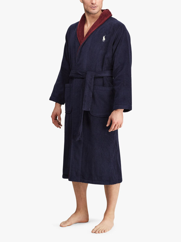 Logo Shawl Dressing Gown
