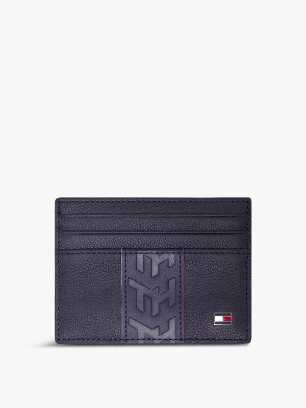 TH Stripe Leather Card Holder