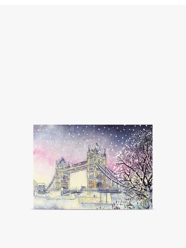 Tower Bridge In Winter Deluxe Cards Pack of 20