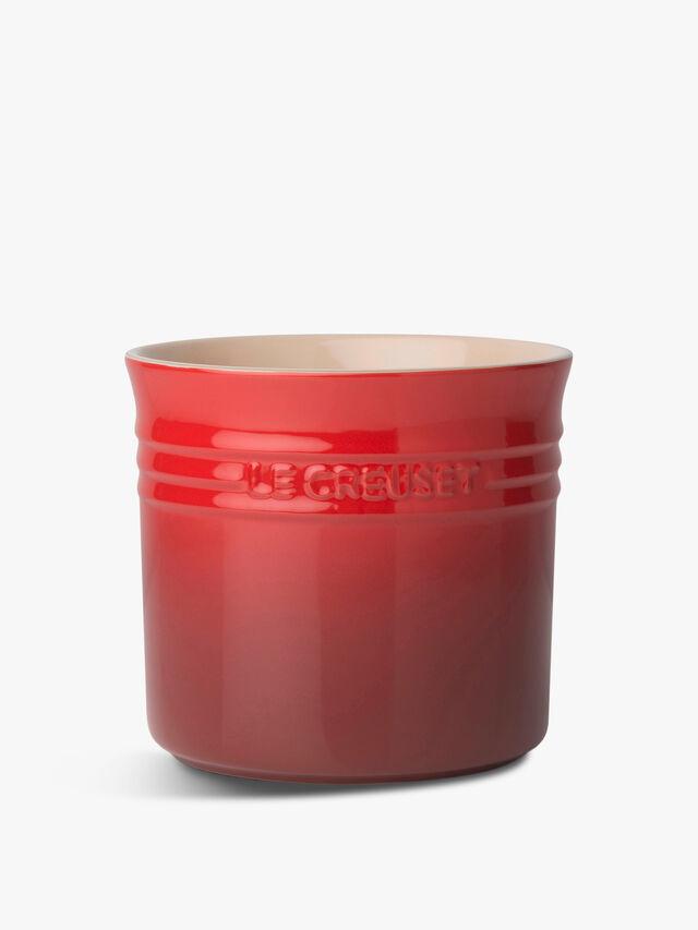 Large Utensil Jar Cerise