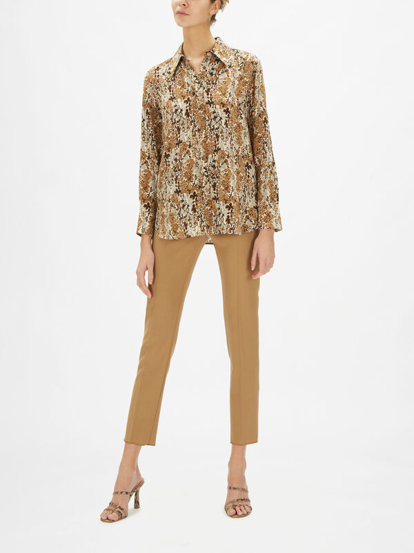 Dollaro Silk Printed Shirt