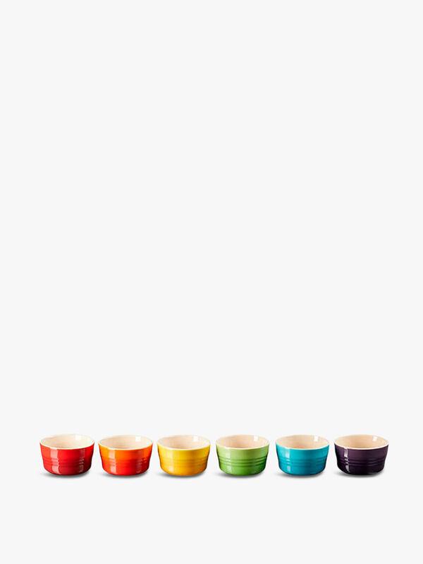 Stoneware Set of 6 100ml Mini Ramekins