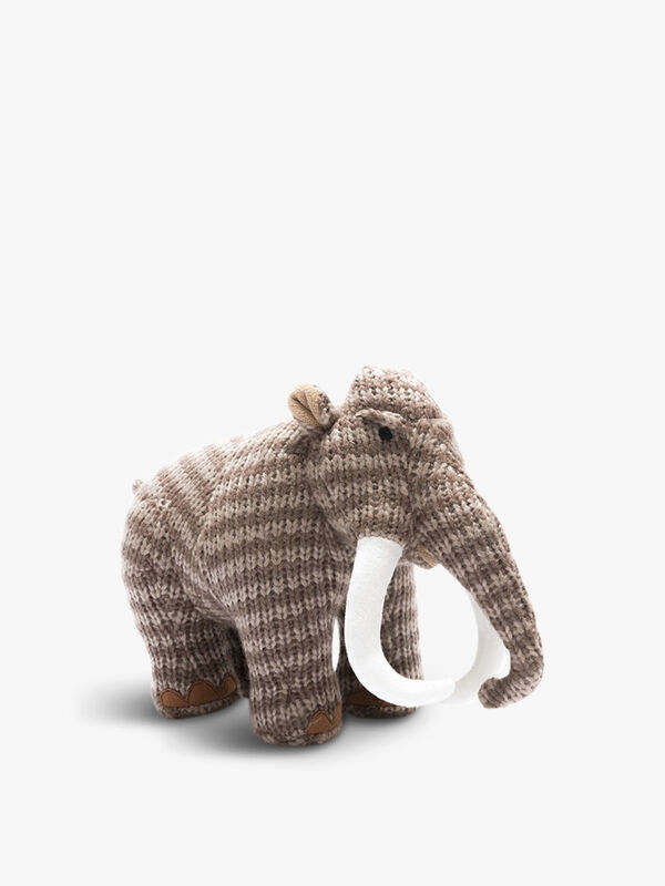 Knitted Woolly Mammoth Toy