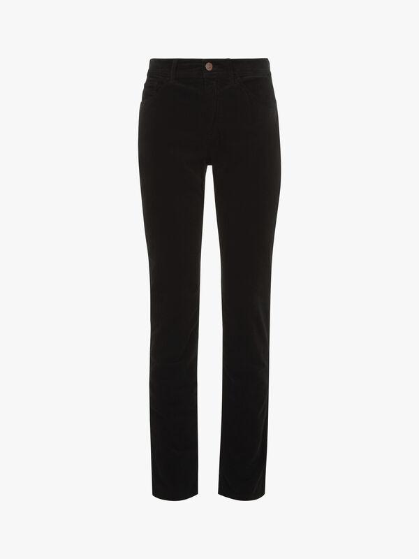 Stretch Velvet Slim Leg Jean
