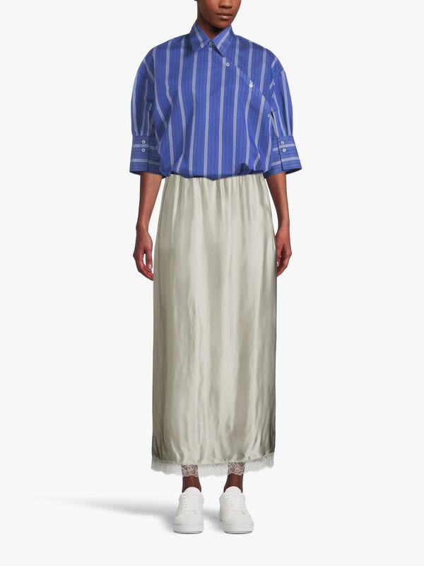 Fluid Viscose Lining Look Skirt