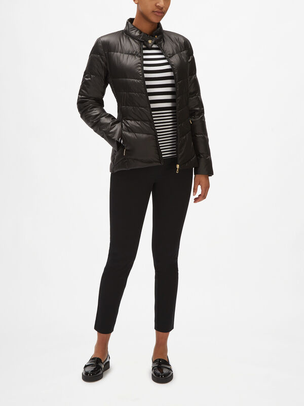 Pearl Sheen Short Quilted Jacket