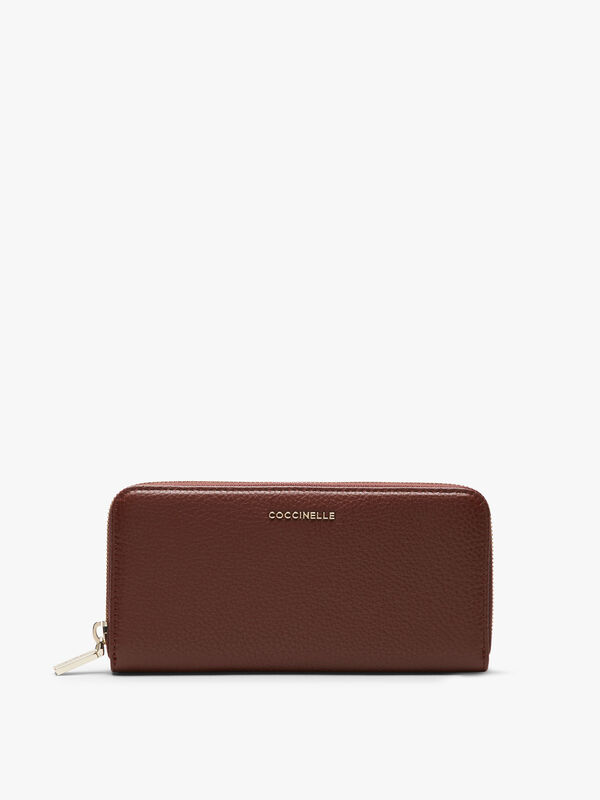 Metallic Soft Leather Long Wallet
