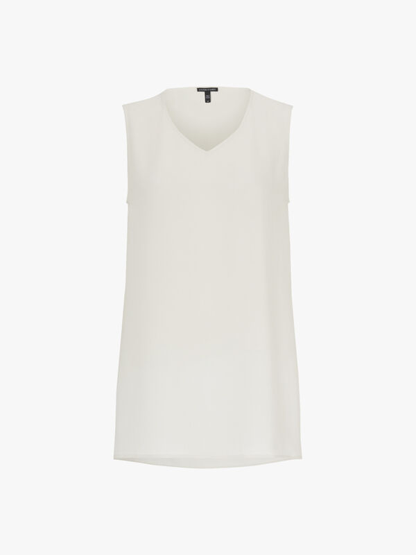 Long V Neck Sleeveless Top