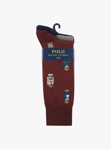 2-Pack Polo Bear Cotton Blend Socks