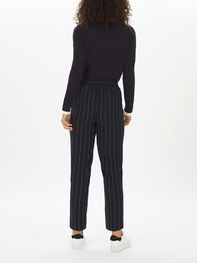 Pull On Striped Trouser
