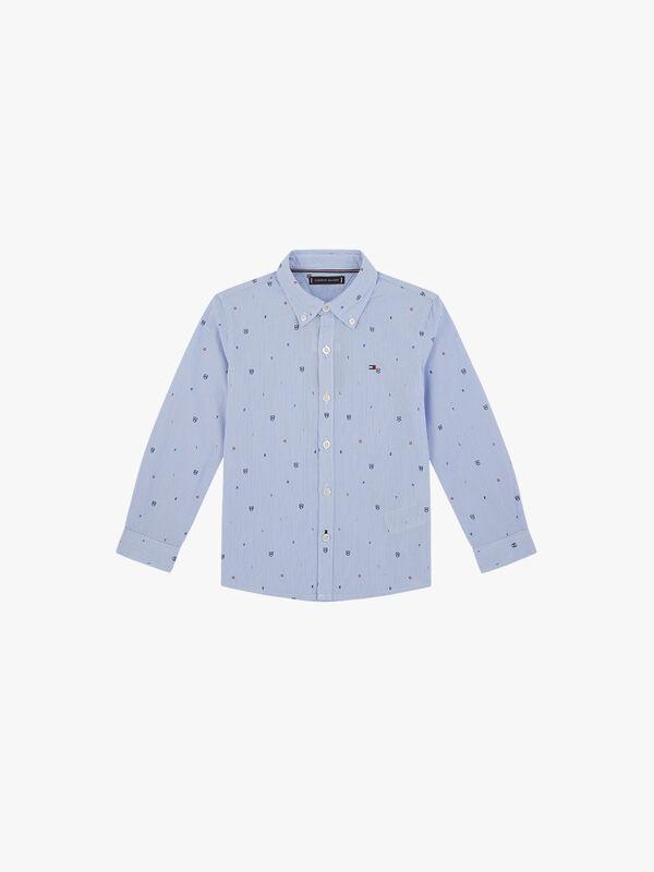 Stripe Letter Print Shirt