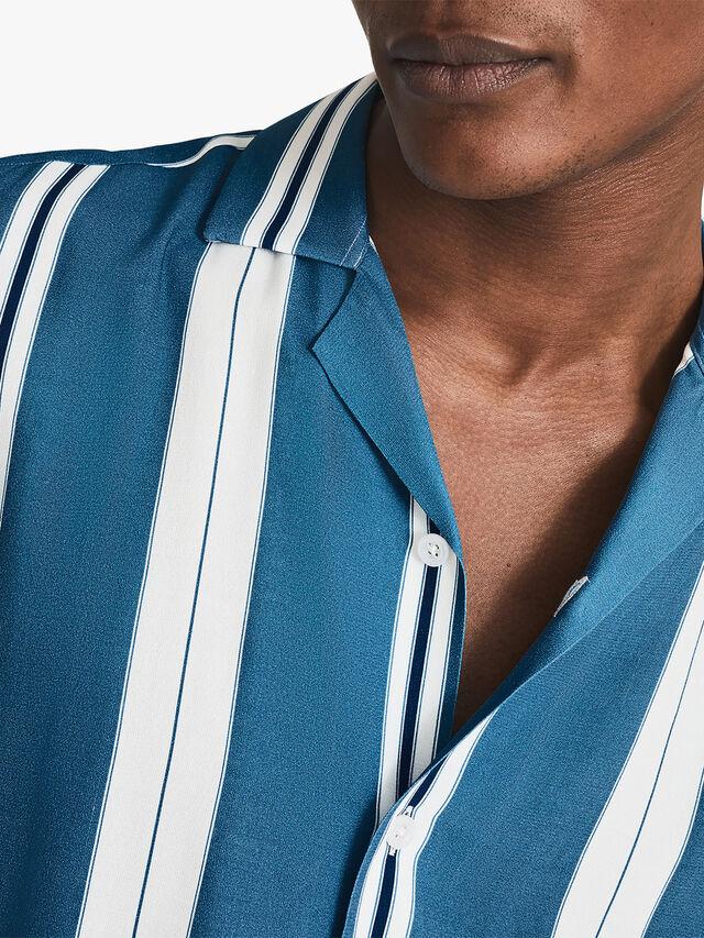 Monroe Striped Cuban Collar Shirt