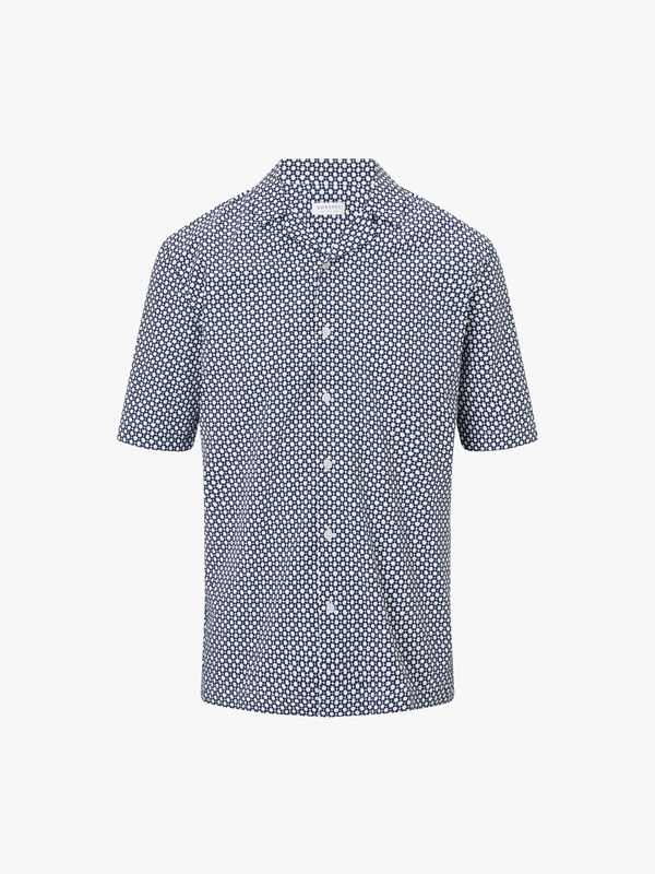 Mesh Camp Collar Shirt