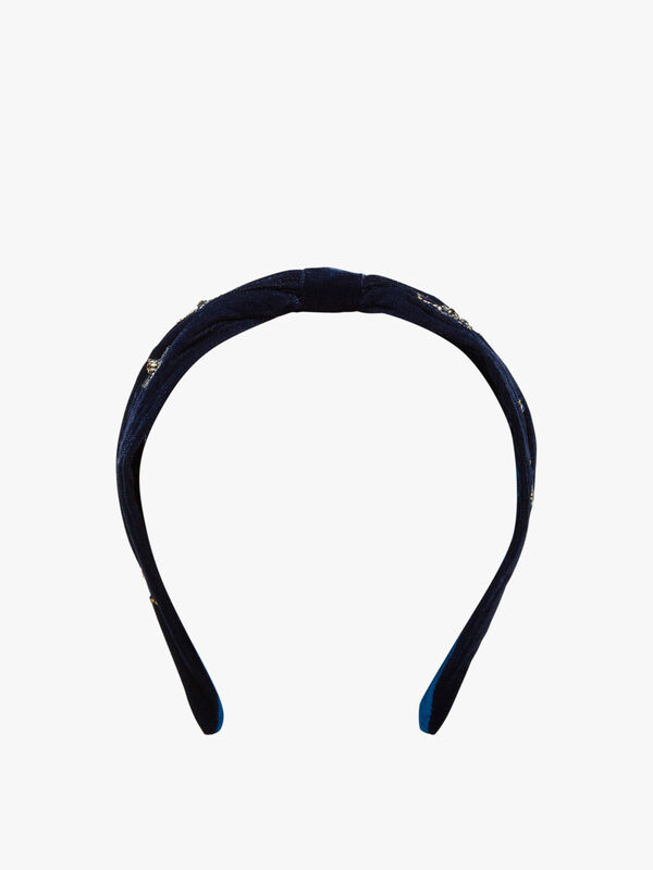 Star and Moon Velvet Headband