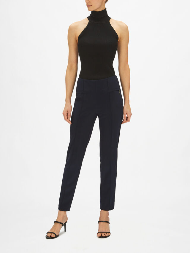 Zip Detail Pocked Accent Trousers