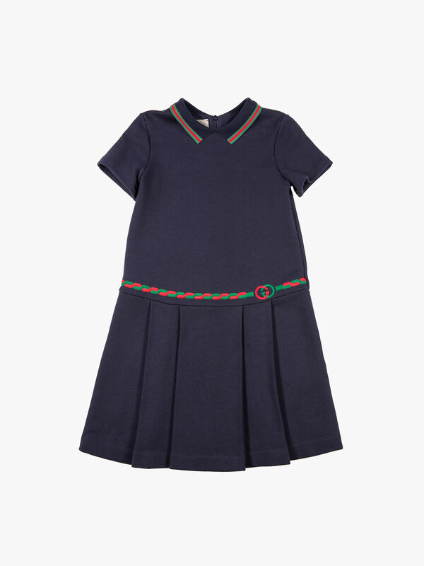 Short Sleeve Dress w/Embroidery