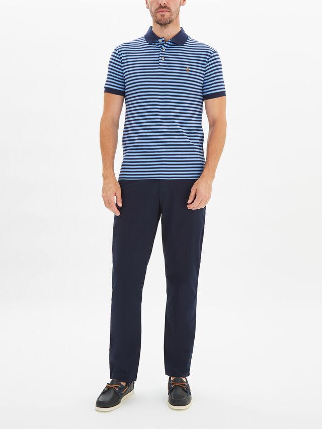 Slim Fit Interlock Polo Shirt