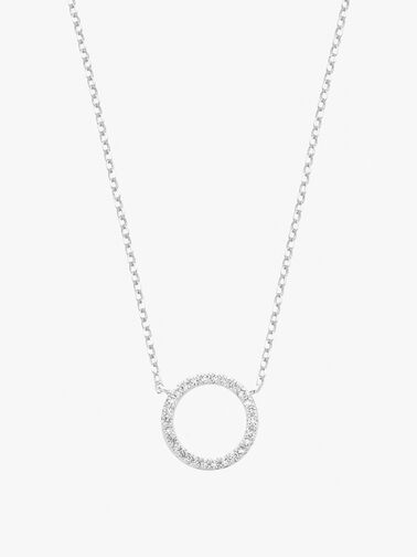 Large Pave Set Circle Necklace
