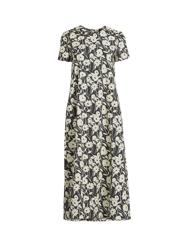 Flower Print Cotton Maxi Dress