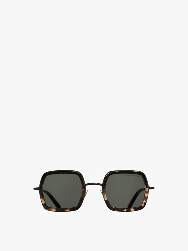 Square with Brow Hood Sunglasses