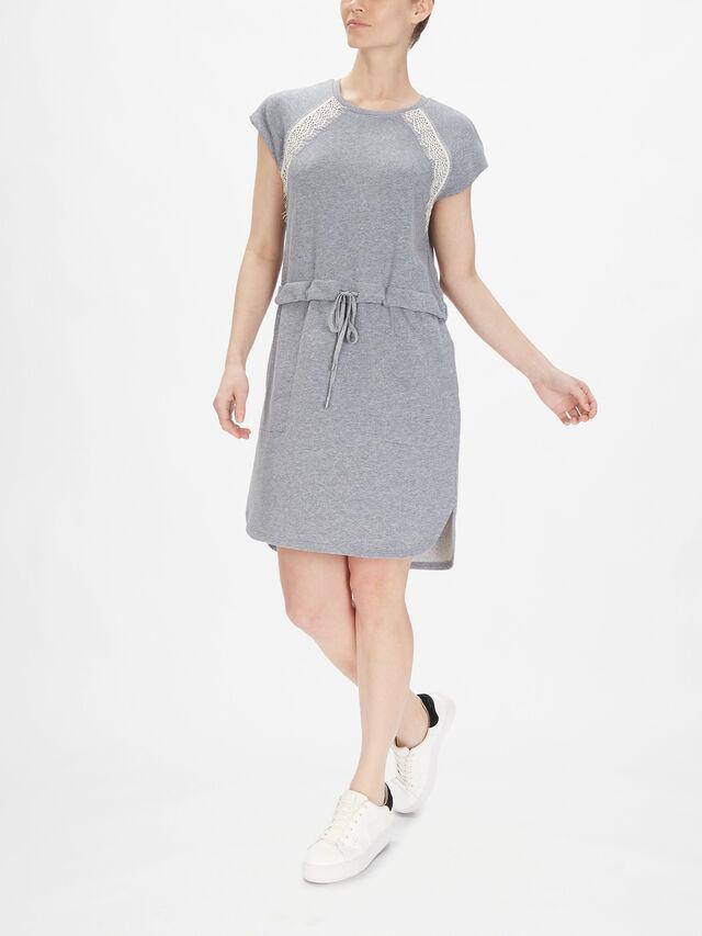 Cap Sleeve Sweatshirt Dress