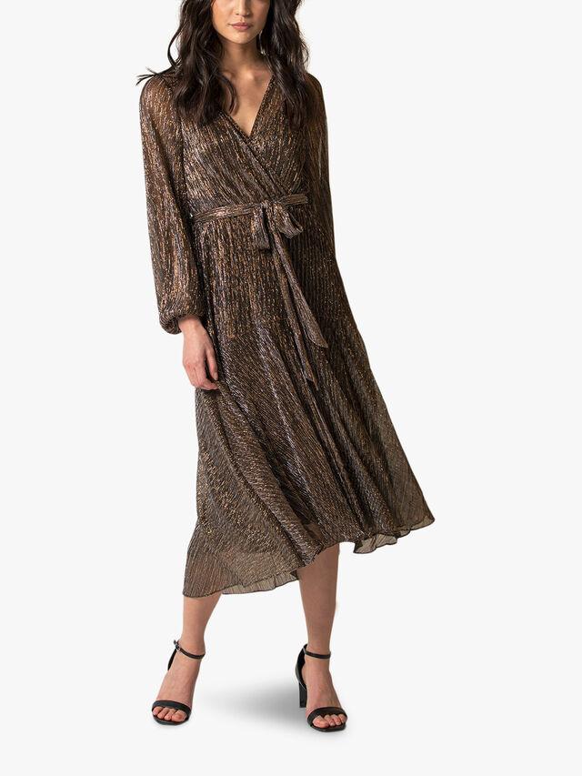 Jemima Plisse Midi Dress
