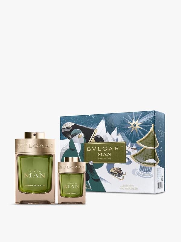 BVLGARI Man Wood Essence Gift Set: Eau de Parfum 100ml + Travel Spray 15ml