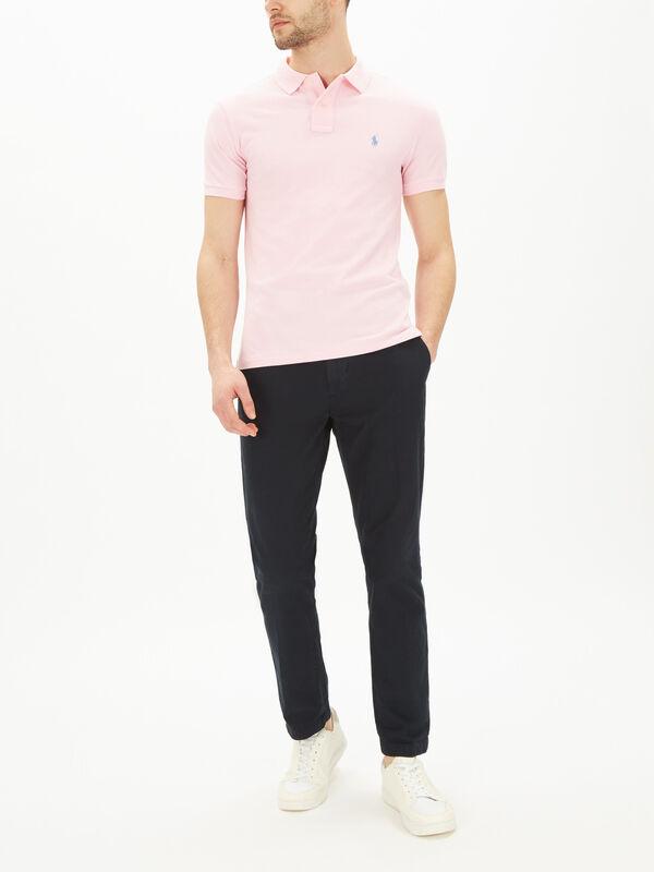 Classic Slim Fit Mesh Polo Shirt
