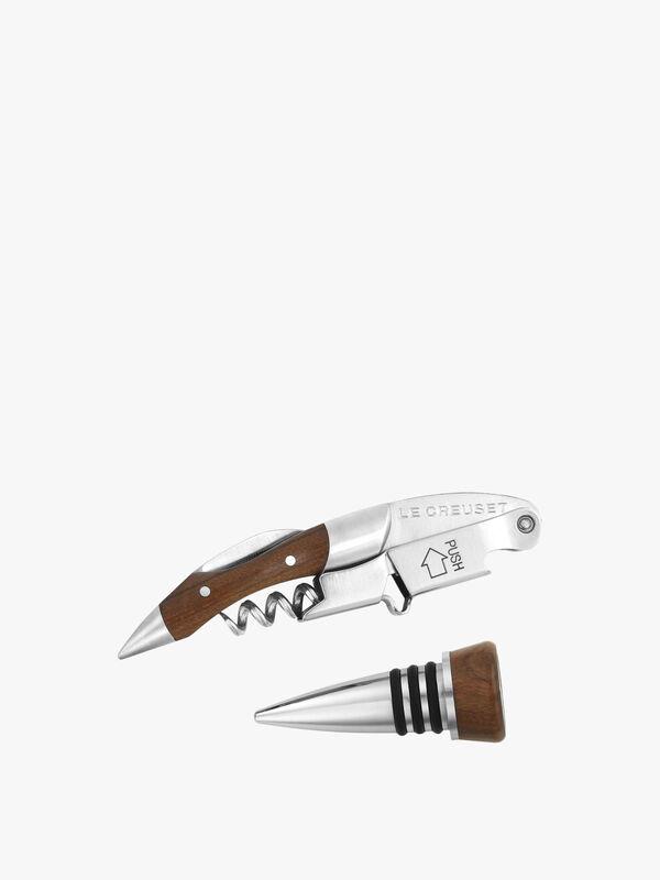 GS-190 Waiter's Corkscrew and Stopper Set