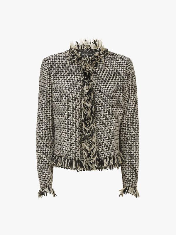 Artisanal Basket Knit Jacket