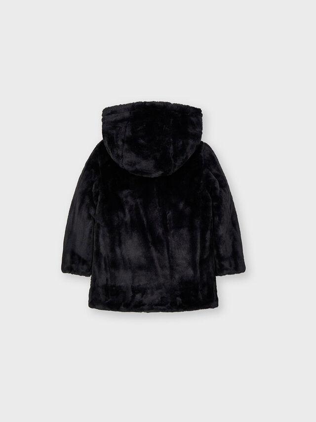 Reversible fur padded jacket
