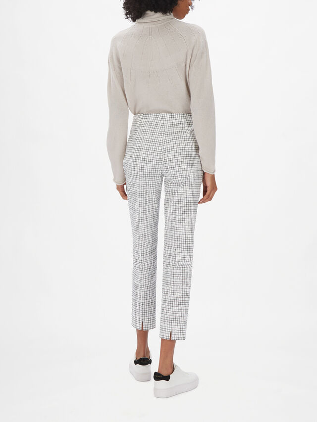 Monia Check Print Trouser
