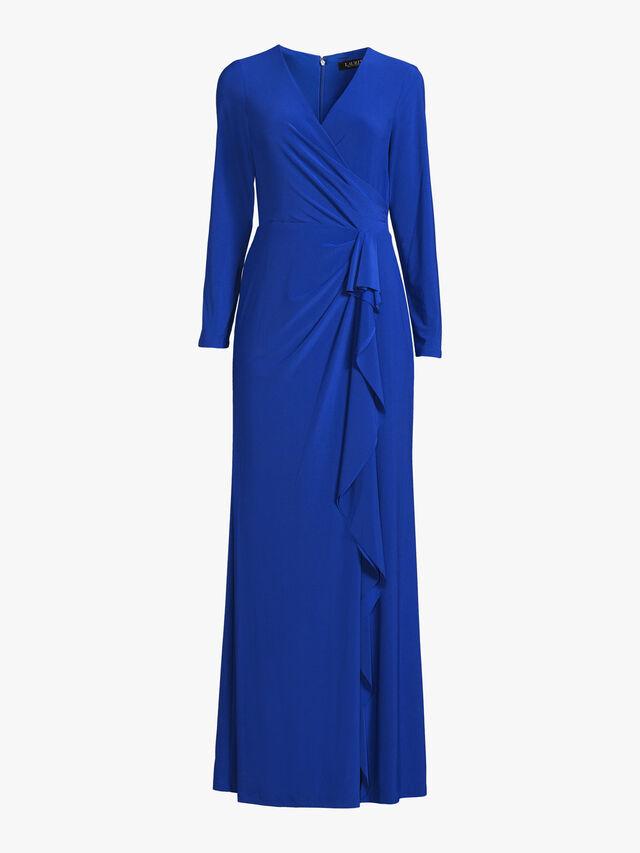 Crescentia Wrap Over Evening Dress