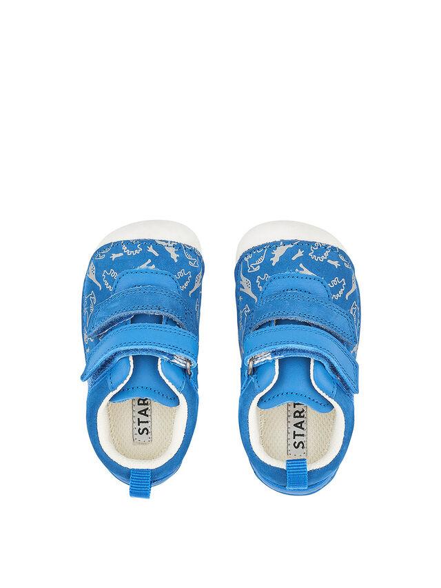 Roar Bright Blue Nubuck Baby Shoes