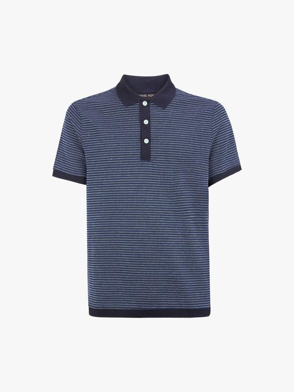 Text Pique Polo Shirt