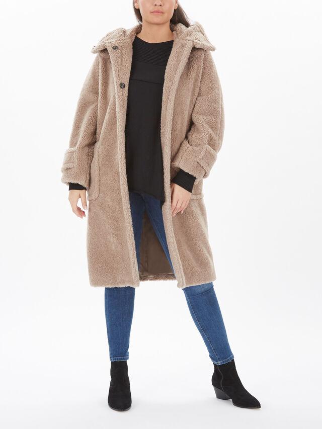 Fashion Hooded Long Coat
