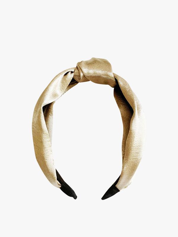Metallic Silk Knotted Headband