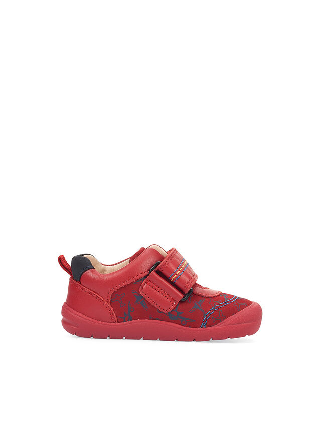 Fly Red Nubuck/aeroplane First Shoes