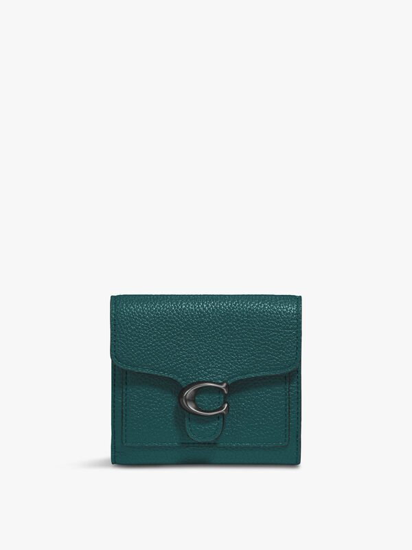 Polished Pebble Tabby Small Wallet