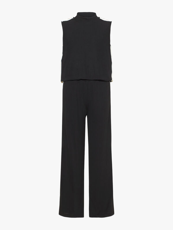 Panel Stripe Jumpsuit