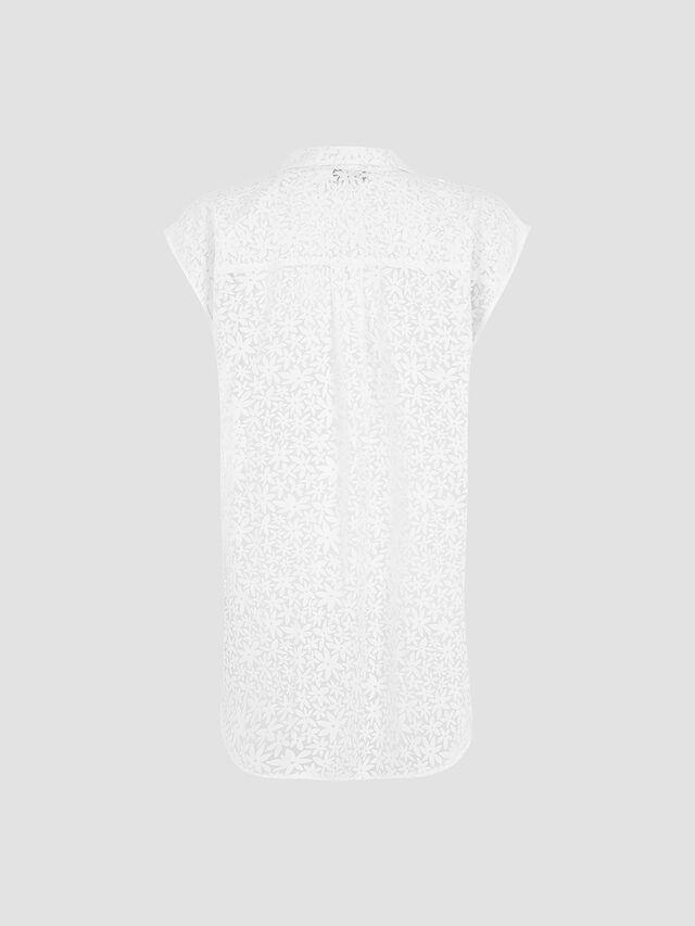 White Burnout Sleeveless Shirt