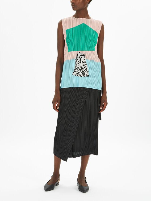 Flower Print Sleeveless Tunic