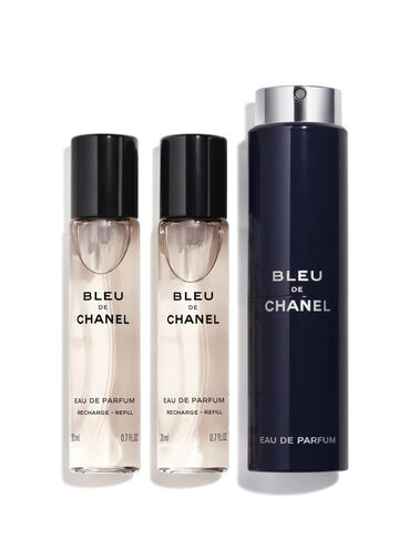 BLEU DE CHANEL Eau De Parfum Twist and Spray 3x20ml