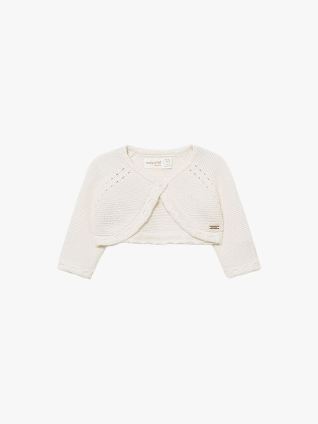 Basic knit short cardigan