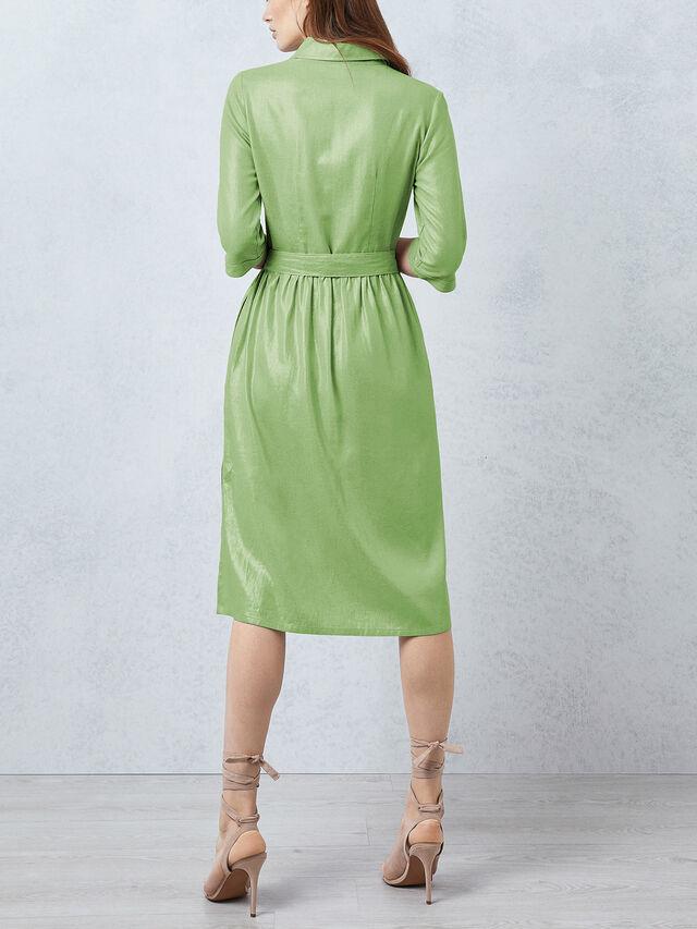 Metallic Sequin Detail Dress