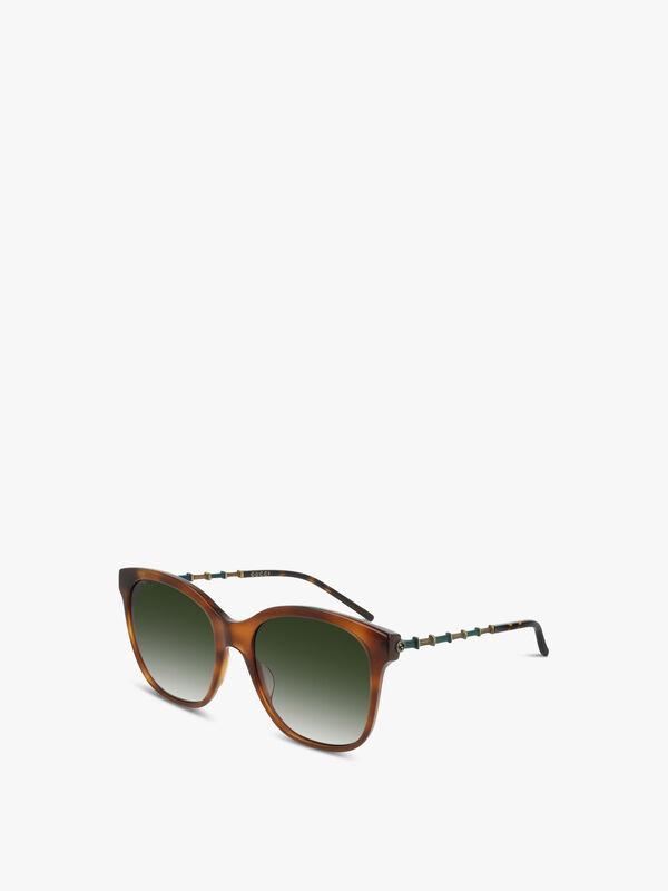 Bamboo Square Acetate Sunglasses