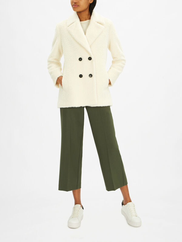 Faville Double Breasted Short Coat